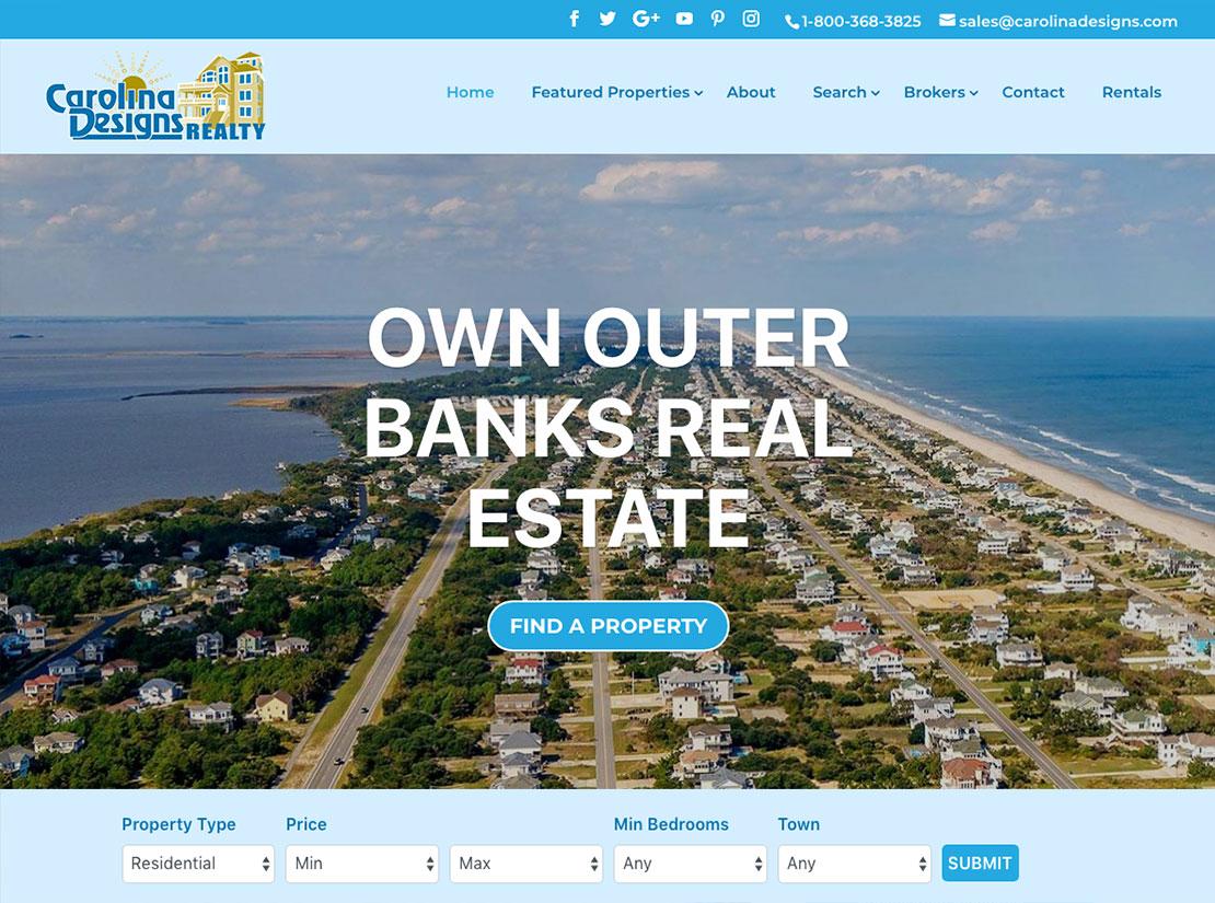 Carolina Designs Website Preview