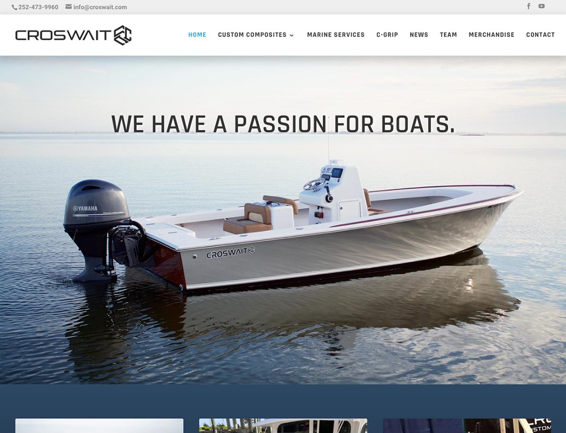 Outer Banks Internet Portfolio Croswait Custom Composites screenshot