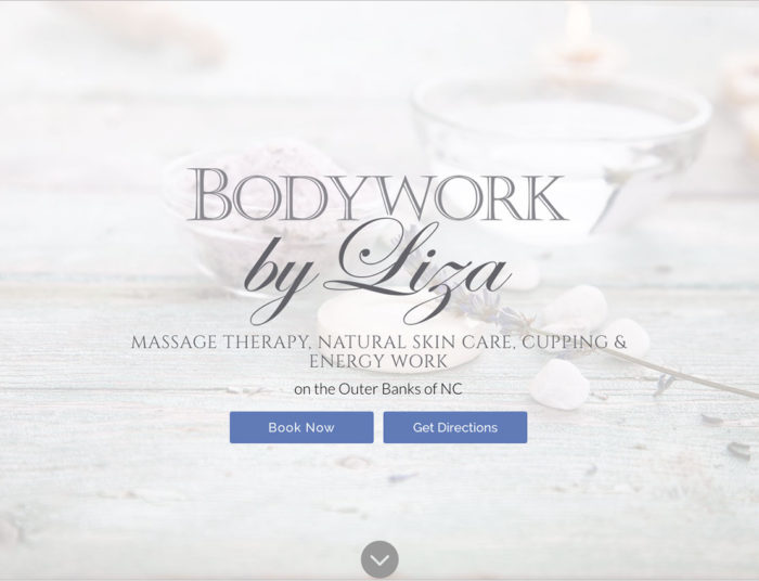 Bodywork by Liza Outer Banks Internet website
